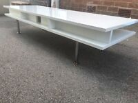 RETRO COFFEE TABLE / TV STAND WITH CHROME LEGS .