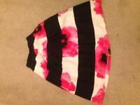 Size 6 female Coast pink flower A-line skirt