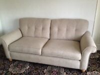 Settee, 3 seater, as new condition, no marks, no stains, 82 ins wide, could deliver locally