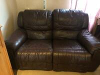 Two brown recliners ( non electronic )