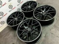"""BRAND NEW MERCEDES 21"""" 22"""" AMG STYLE ALLOY WHEELS - AVAILABLE WITH TYRES - 5 X 112- SATIN BLACK"""