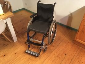 LIGHTWEIGHT Kuschall Fusion Manual WHEELCHAIR - Sports Carbon + extras RRP £3200