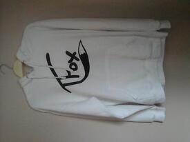 Women's Medium sized TFOX Hoodie in white.
