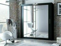 🔵💖🔴SMART CHOICE🔵💖🔴Berlin 2 Door Sliding Mirror Wardrobe -- Cheapest Price -- Same Day