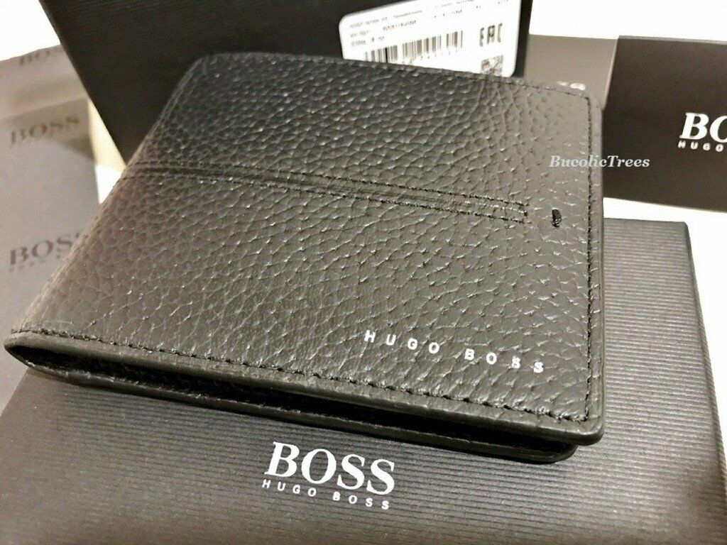 c9fffb403f5 HUGO BOSS ELITE SOFT BLACK LEATHER BI-FOLD WALLET WITH BOSS PRESENTATION BOX