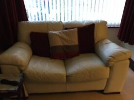 Leather sofa for sale due to house move.