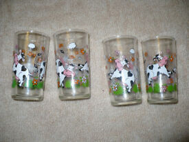 House clearance! 4x Vintage Kids Glass. Collectible. Excellent condition. CHristmas..