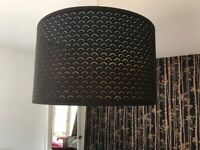 Ikea Black and gold lamp shade