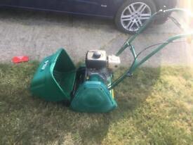 Suffolk punch 14SK lawn mower with scarifier cassette