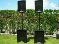 Martin audio speakers f10 tops and s12 subs