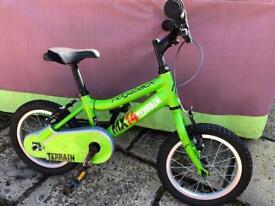 Ridgeback MX14 Terrain kids bike plus stabilisers