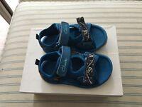 Clarks size 4 1/2 F toddler sandals, worn