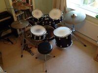 Premier Genista full drum kit dark blue