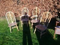 high back solid pine dinning chairs
