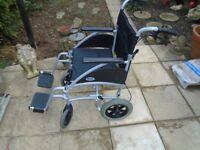 Days Swift 46TR Lightweight Portable Transit Wheelchair with Attendant Brakes