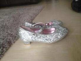 Girls silver sparkly shoes (size 12)