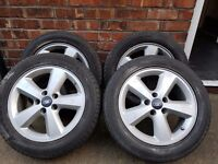 Ford focus alloy wheels and tyres 05 on