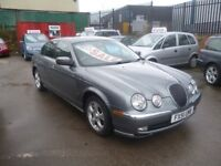 Jaguar S-TYPE V6 SE Auto,2967 cc 4 door saloon,Full MOT,full leather interior,runs and drives well,
