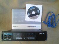 MOTU microlite 5 in 5 out 80 channel MIDI interface