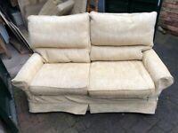 two x beige sofas