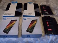 New HP 7 inch G2 Tablets x 2 ( pair ) Silver, Sealed Boxes with Free HP Covers and Cases !!!