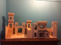 Wooden, folding medieval Castle