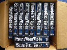 The Second World War 10 volumes. Trident Press 2000 fully illustrated.