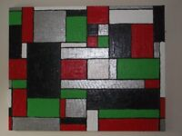 2 Original Acrylic Paintings, Unsigned.