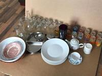 FREE - glassware and tableware