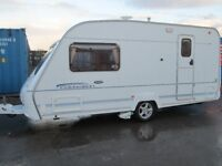 ace celebration 480 two berth touring caravan year 2005 in very good condition ready to go .