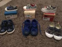 Used boys shoes (Clark's, converse, Start Rite and Vans)