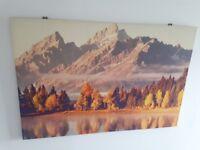 Canvas Print Mountain Scene
