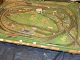 'N' gauge model railway layout.