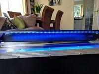 1u Flightcase Rack Blue and White Light