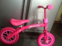 Pink balance bike - like new