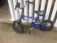 Kids bike, blue spider design from halfords