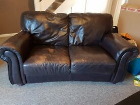 Brown two seater sofa free for collection asap.