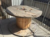 Large Cable Drum - using as outdoor table