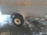 A car trailer 5feet by 4feet alloy checka plate rear lights