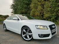 (CANDY WHITE) Aug 2008 Audi A5 SPORT 2.7 V6 TDI AUTO COUPE, STUNNING EXAMPLE! FULL YEARS MOT! FSH!