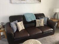 Large Italian leather sofa