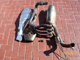 Authentic rare Honda Cbr1000rr Fireblade motorbike Stock full Exhaust pipe System
