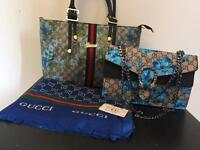 GUCCI 3pcs Bag & Scarf GIFT SET