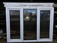 White used pvc window