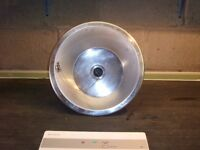 Round stainless steel inset basin
