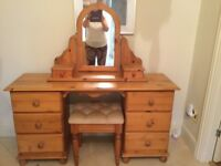 Attractive pine dressing table. Very good condition