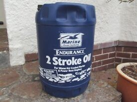 25 litres of Endurance 2 stroke oil