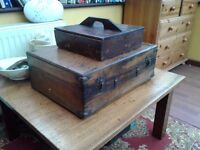ANTIQUE BOXES. X 2 ONE HOUSES A SILK SCREEN PRINTER (parts missing) Offers £60 & £40 NO TEXTS