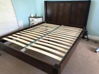 King Size Bed and Wardrobe. Solid wood.