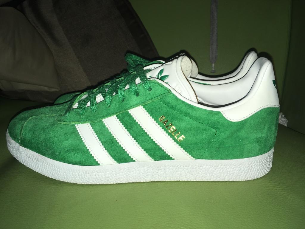 newest e3d46 4fed8 Adidas Gazelle UK Mens Size 9 Green White